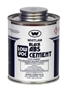 WHITLAM ABS Black Medium Bodied Low VOC Cement