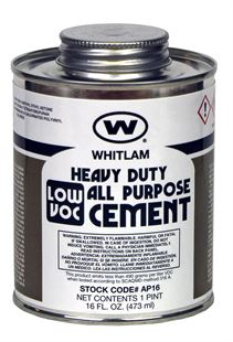 WHITLAM All Purpose Clear Medium Bodied Heavy Duty Low VOC Cement