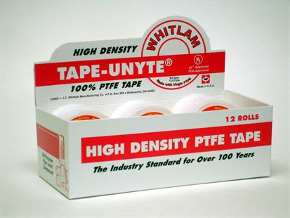 TAPE-UNYTE High-Density White PTFE Tape