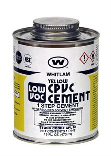 WHITLAM CPVC Yellow Medium Bodied Low VOC Cement