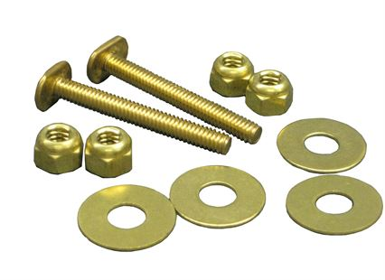PLUMB-PRO® CLOSET BOLTS - Break-A-Way Solid Brass Toilet Flange Bolt Sets