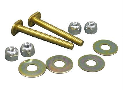 PLUMB-PRO® CLOSET BOLTS - Brass-Plated Steel Toilet Flange Bolt Sets - Bulk Pack