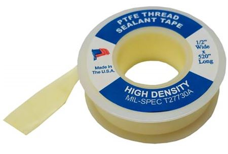 WHITLAM Yellow Gas Line PTFE Tape