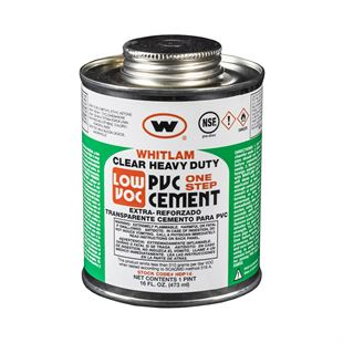 WHITLAM Heavy Duty Clear Medium Bodied Low VOC PVC Cement