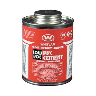 WHITLAM Clear Medium Bodied Low VOC PVC Cement
