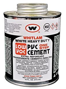 WHITLAM White Heavy Duty Low VOC PVC Cement